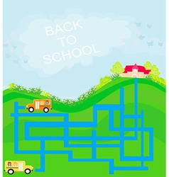 Back to school - maze vector