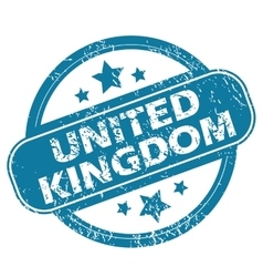 United kingdom round stamp vector
