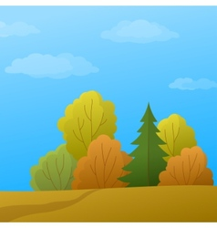 Landscape autumn forest vector
