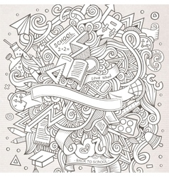 Cartoon hand-drawn doodle on the subject of vector