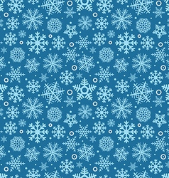 Christmas seamless pattern of different snowflakes vector