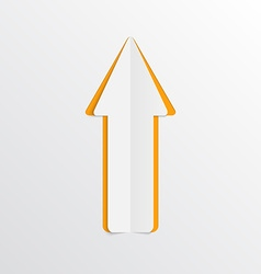 White paper arrow vector