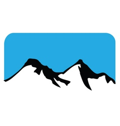 Mountain symbol vector