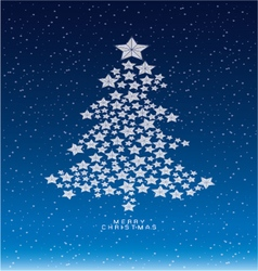 Christmas and new years snow background with star vector