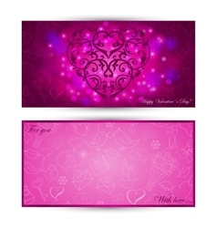 Card with heart on festive background vector