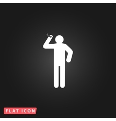 Man with a cigarette vector