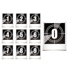 Photo countdown vector image