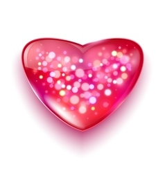 Postcard for valentine s day with bokeh lights vector
