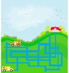 back to school - maze vector image vector image