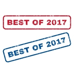 Best Of 2017 Rubber Stamps vector image vector image