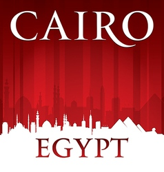 Cairo Egypt city skyline silhouette vector image vector image
