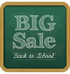 chalkboard back to school text big sale vector image