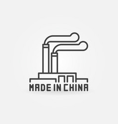 Chinese manufacturing icon vector
