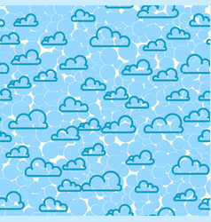 cloud sky seamless pattern cartoon weather vector image vector image