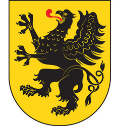 Coat of arms of pomeranian voivodeship in vector