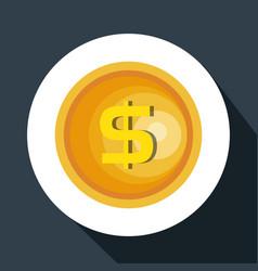 Coins money pay icon vector