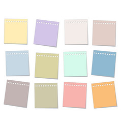 colorful paper note set vector image