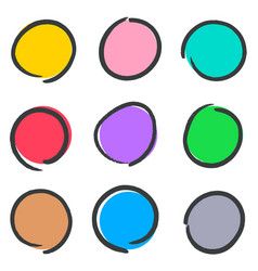 creative hand drawn web buttons vector image vector image