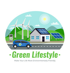 ecology colored composition vector image