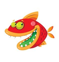 fish crazy vector image vector image