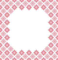 Frame pink patterns on canvas vector