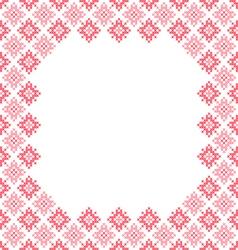 Frame pink patterns on canvas vector image