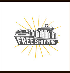 Free shipping design template shipping and vector