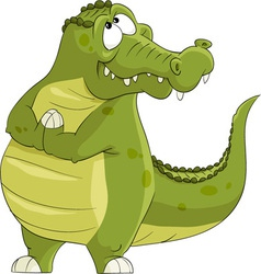 Funny alligator vector