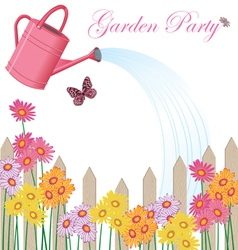 Garden party shower vector