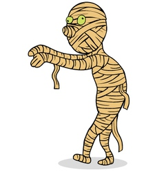 Mummy cartoon vector image vector image