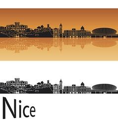Nice skyline in orange background vector image