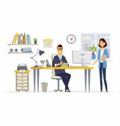 Office meeting - modern cartoon business vector