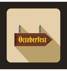 Oktoberfest signboard icon flat style vector image vector image