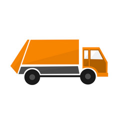 Orange construction cars collection industrial vector