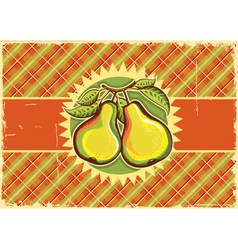 Pears vintage label vector image vector image