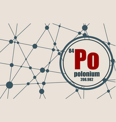 Polonium chemical element vector