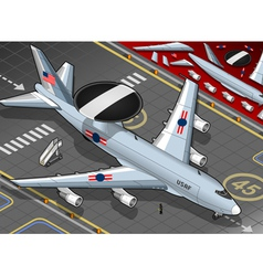 Radar Plane Landed in Front View vector image vector image
