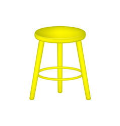 Retro stool in yellow design vector