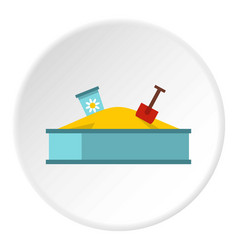 Sandbox icon circle vector