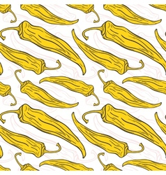 Seamless pattern with decorative chili peppers vector image