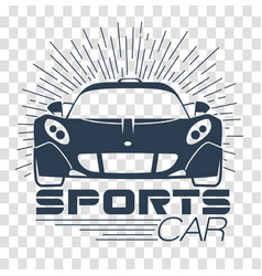 Silhouette racing sports cars vector