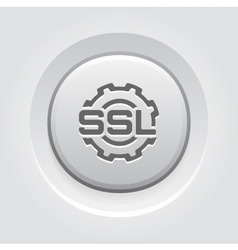 Ssl settings icon flat design vector