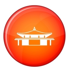Temple icon flat style vector