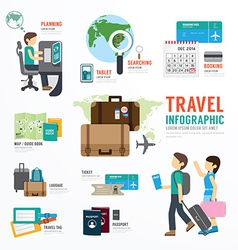 World Travel Business Template Design Infographic vector image vector image