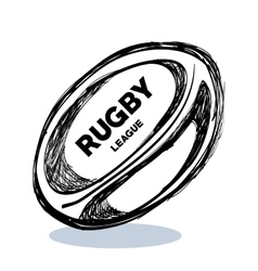 hand drawing rugby ball design vector image