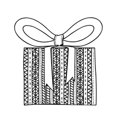 Gift box and bow icon image vector