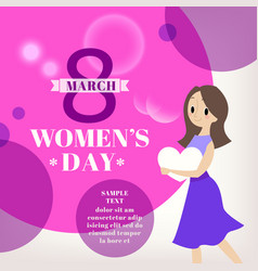womens day celebration cartoon vector image