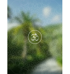 tropical yoga realistic banner with mandala and vector image