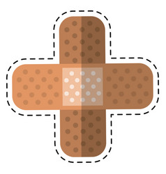Cartoon medical plaster bandage adhesive vector