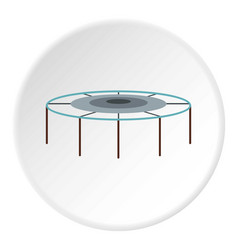 Trampoline jumping icon circle vector